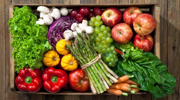 végétarien, viande, légumes, fruits, tofu, sain, nourriture