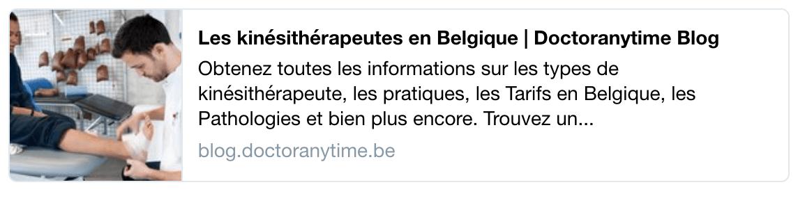 kinésithérapeutes en Belgique (1)